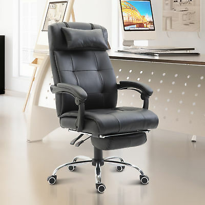 HOMCOM Executive High Back Reclining Executive Office Swivel Chair with Footrest