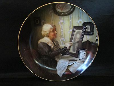 Grandma's Love Collector Plate Norman Rockwell Golden Moments