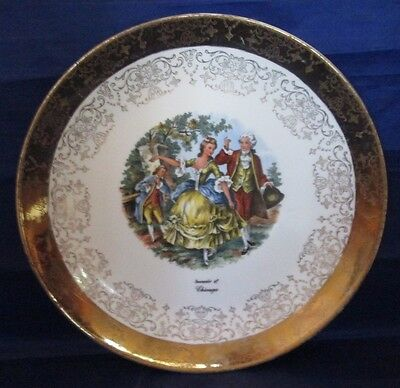 Souvenir of Chicago Vintage Collector Plate Crest-o-Gold by Sabin