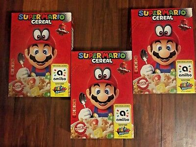 Super Mario Odyssey Cereal with Amiibo (Choose 1 or 3 boxes)
