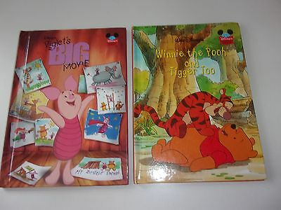 Disney Set of 2 Winnie the Pooh and Tigger Too and Piglets Big Movie Books