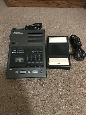 Panasonic Microcassette Transcriber with foot pedal - RR-970 - UNTESTED