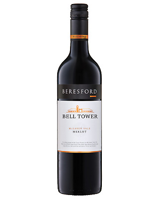 Beresford  Bell Tower Merlot 2015 case of 12 Dry Red Wine 750mL McLaren Vale