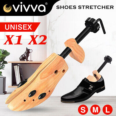 2 Way Shoe Timber Wooden Shoe Stretcher Adjustable Unisex Shaper Expander Plugs