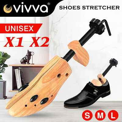 2 Way Shoe Trees Wooden Shoe Stretcher Adjustable Unisex Shaper Single