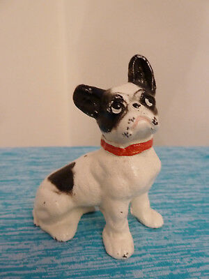 """Antique Hubley? Cast Iron French Bulldog Paperweight 3""""h"""