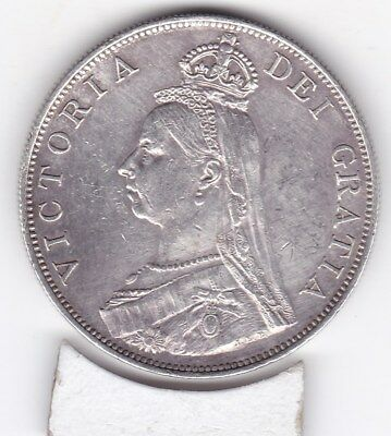 Very  Sharp  1887   Large  Double  Florin  (4/-)  Silver (92.5%)  Coin