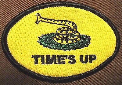 """""""Time's Up"""" patch- Dull 'Hawk flag- """"Don't tread on me""""- Gadsden flag- dullhawk"""
