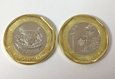 Singapore 1 Dollar 2013 Bi-Metallic Coin Unc