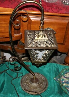 Vintage Victorian Style Spanish Influence Hanging Chandelier Table Lamp-#1