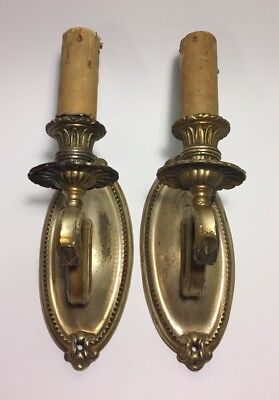 Antique Art Deco Wall Sconce Light Fixtures-Pair