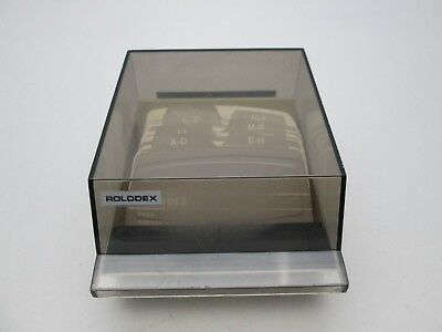 Rolodex S-310C Covered Tray Card File With Unused Cards