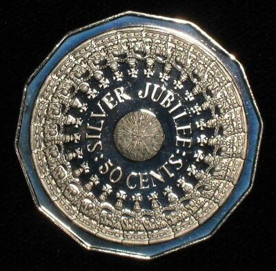 1977, Silver Jubilee 50 Cents from Australia.  No Reserve!