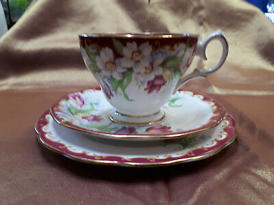 Queen Anne Narcissus Bone China Trio
