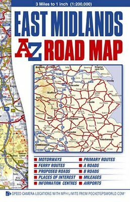 East Midlands Road Map (A-Z Street ... by Geographers A-Z Map  Sheet map, folded