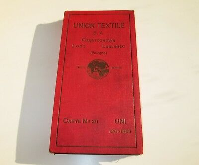 ANTIQUE UNION TEXTILE SAMPLE WOOLEN YARN COLOR THREAD ADVERTISING CATALOG rare