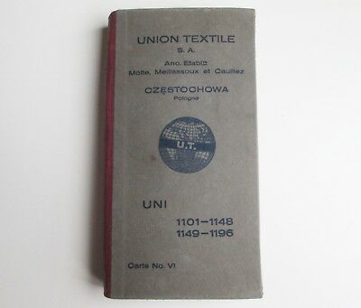 Antique Union Textile S.a. Sample Woolen Yarn Color Thread Advertising Catalog