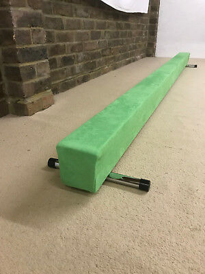 finest quality gymnastics gym balance beam 6FT long NEW ELECTRIC GREEN