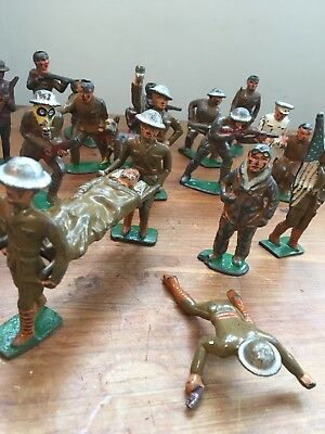 Rare Barclay/manoil/grey Iron Toy Military Lot- 18 Wwi Soldiers