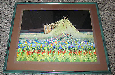 Rare Stunning! 1987 Signed Original Watercolor By Navajo Artist Redwing Ted Nez