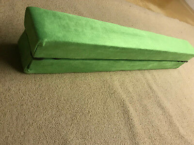 finest quality gymnastics balance beam folding 8ft long ELECTRIC GREEN