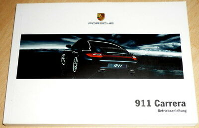 Betriebsanleitung,owner's manual Porsche 911 Carrera (997) anno 02/2010