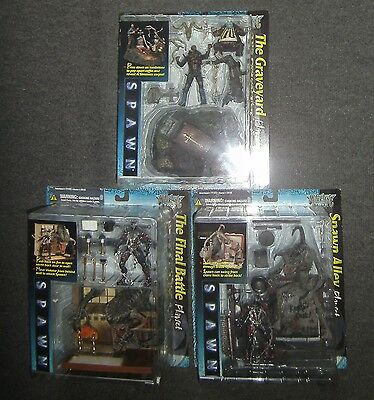 Spawn The Movie Alle 3 Playsets von McFarlane NEU&OVP