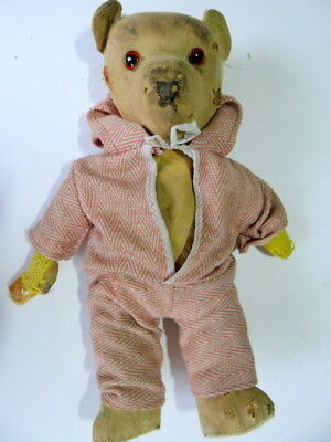 "Vintage Worn Teddy Bear, Measures 13"" Approx. Jointed."