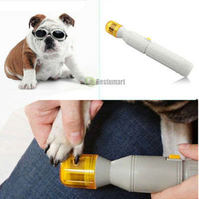 Electric Nail Trimmer File Grinder Grooming Tool Pet Care Clipper For Dog Cat