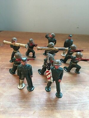 Rare Barclay/manoil/grey Iron Toy Military Lot- 11 Wwii Soldiers