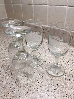 Set of 4 Brotherhood Wine Glasses, America's Oldest Winery Free shipping!
