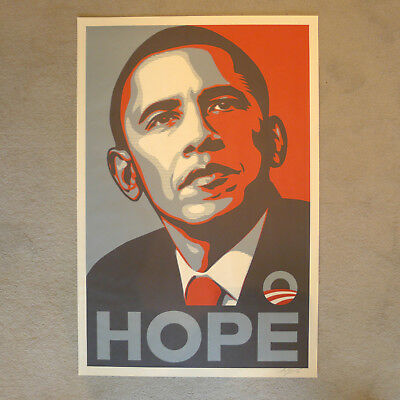Shepard Fairey - Obama Hope - Historisches Original von 2008 - Handsigniert