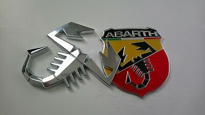 abarth skorpion in chrom abarth emblem aufkleber aus. Black Bedroom Furniture Sets. Home Design Ideas