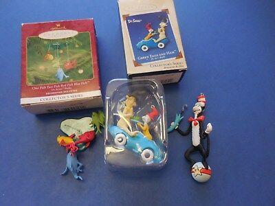 Hallmark Green eggs and Ham, Cat in the Hat 99, 1 Fish 2 Fish Red fish Bue fish