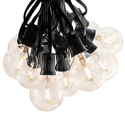 G50 LED Filament Outdoor Patio Globe String Lights (25', 50' and 100' Lengths)