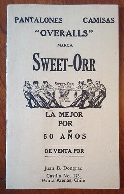SWEET-ORR UnionMade Overalls 1921 Advertising Booklet Newburgh NY Woman in Jeans