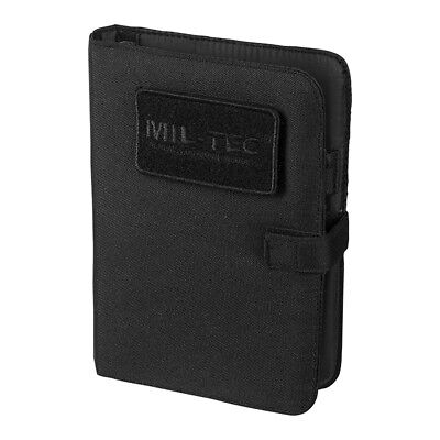 Mil-Tec Tactical Notebook Small Police Writing Pad Security Notes Notepad Black