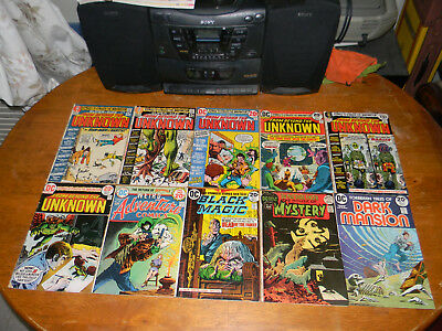 Ghosts House Of Mystery The Unknown + Bronze D.c. Horror Lot Of 21