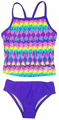 SPEEDO GIRLS 2 PIECE TANKINI SWIMSUIT SET MULTI PINK PURPLE Various Sizes NWT