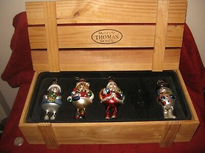 Set 4 Museum Series Ornaments Thomas Pacconi Classics Christmas Crate 2002 Dangl