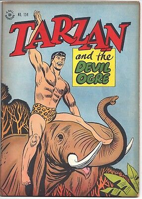 Four Color 134 Tarzan and the Devil Ogre (1947 Dell) VG + 4.5-1/3 OFF !