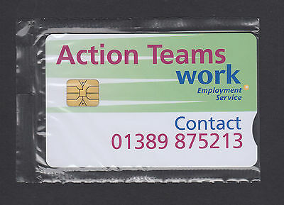 Unused BT Promotional phonecard ~ Action Teams Work / Employment - 1000 issued