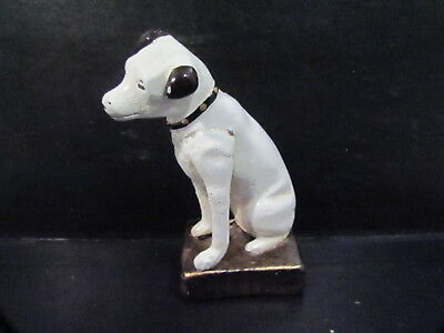 Vintage Cast Iron Paper Weight Nipper Dog His Masters Voice Solid Statue