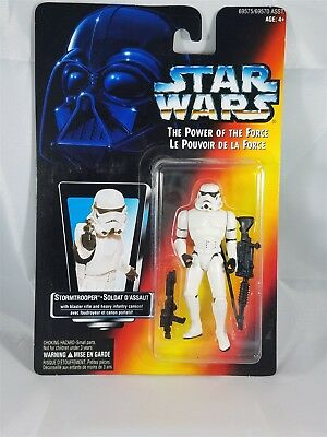 Star Wars POTF Bilingual card Stormtrooper w/Blaster Rifle & Infantry cannon NIB
