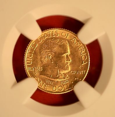 1922 Grant With Star Commemorative Gold Dollar Certified NGC MS66
