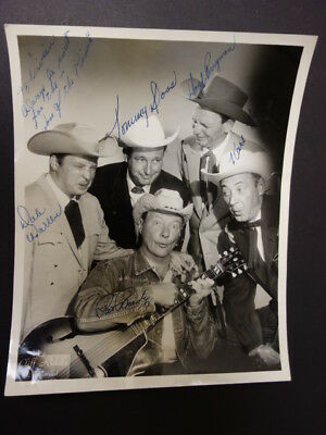 Sons Of The Pioneers Signed 8x10 Photo