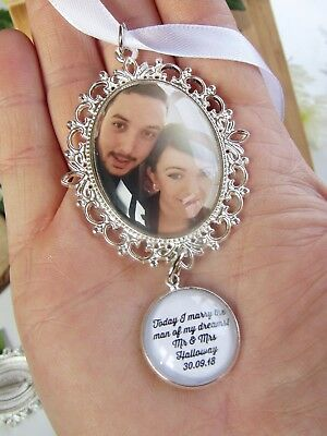 Memory Charm Photo Bouquet Bridal Charm Wedding Personalised Quote And Picture