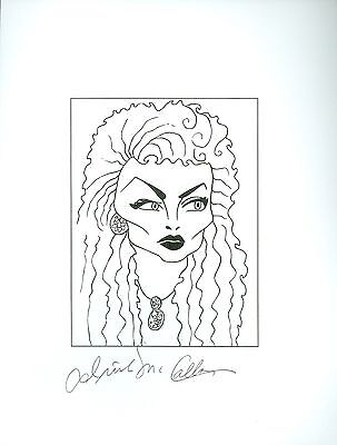 IRISH MCCALLA, RIP Sheena Queen of Jungle Signed Auto 8.5x11 Cartoon Autograph a