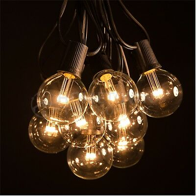 G50 LED Clear Outdoor Patio Globe String Lights (100', 50' and 25' Lengths)