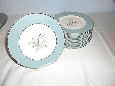 """12 Syracuse China ~ MEADOW BREEZE ~ 8"""" Salad Plates ~ Excellent ~ USA"""